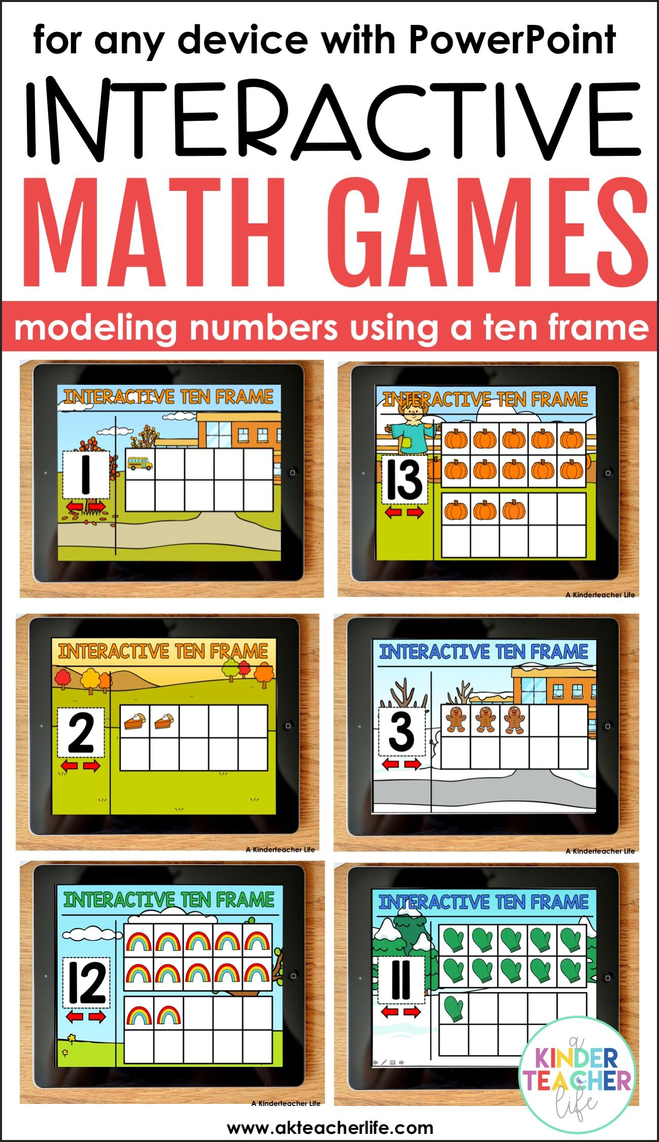 Interactive Ten Frame Math Games The Bundle | Ten frames, Math and ...