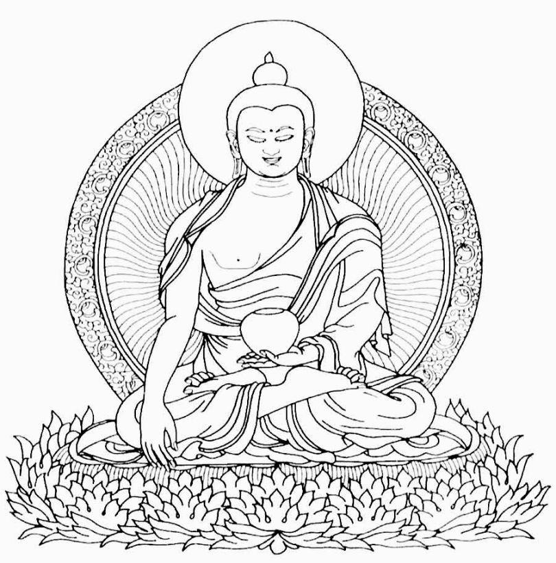 Buddha Coloring Page Buddhist Symbols Buddha Drawing Buddha Symbols