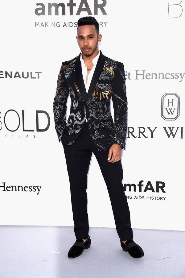 lewis hamilton wearing ports 1961 fall 2016 embroidered blazer