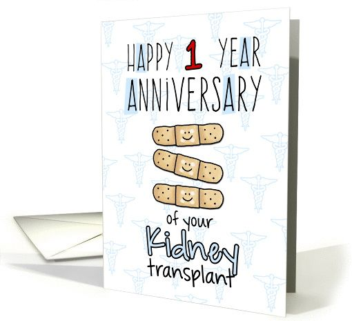 Cute bandages happy 1 year anniversary kidney transplant card cute bandages happy 1 year anniversary kidney transplant card by cfkaatje m4hsunfo