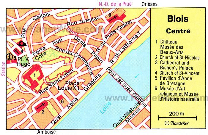map of BLOIS Loire Valley Pinterest