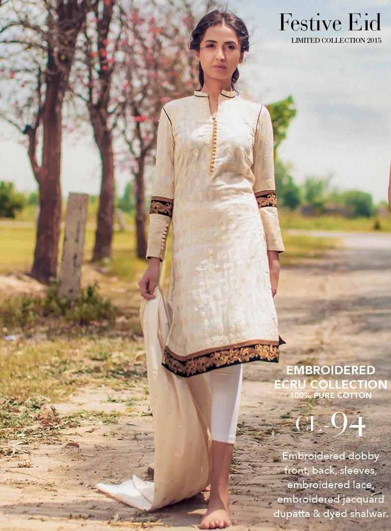 Gul ahmed winter dresses collection 2015 fashionip - Cl 94 Embroidered Dobby Front Back Sleeves Embroidered Lace Embroidered Jacquard Dupatta Dyed Shalwar Gulahmed Eidcollection Lawn Em Pinteres