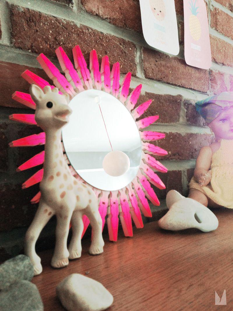 miroir soleil faire soi m me diy kidcraft vintage. Black Bedroom Furniture Sets. Home Design Ideas