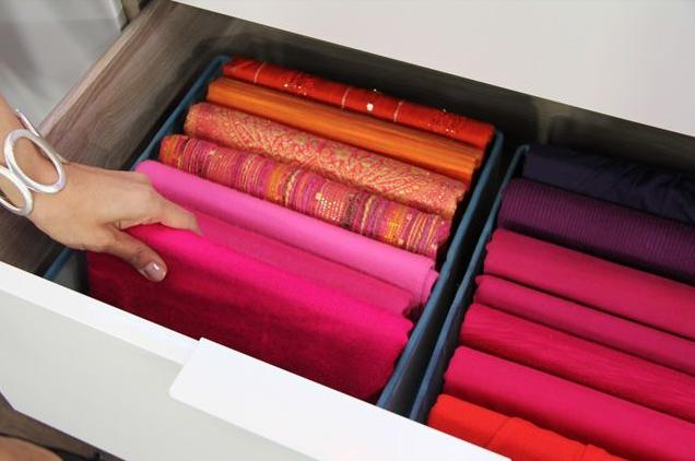 Cómo Organizar Bufandas Y Pashminas 13 Ideas Mi Casa Organizada Organización De Bufandas Organizar Las Bufandas Organizadores De Armarios