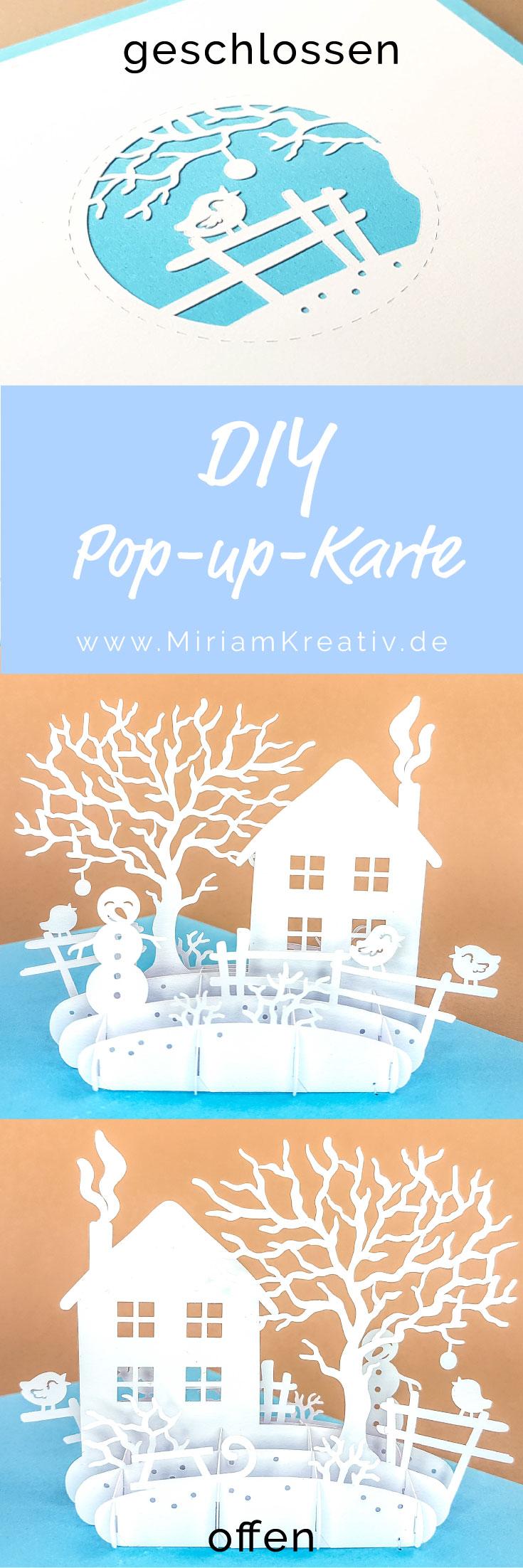 pop up karte winterszene diy karten plotter pop up. Black Bedroom Furniture Sets. Home Design Ideas