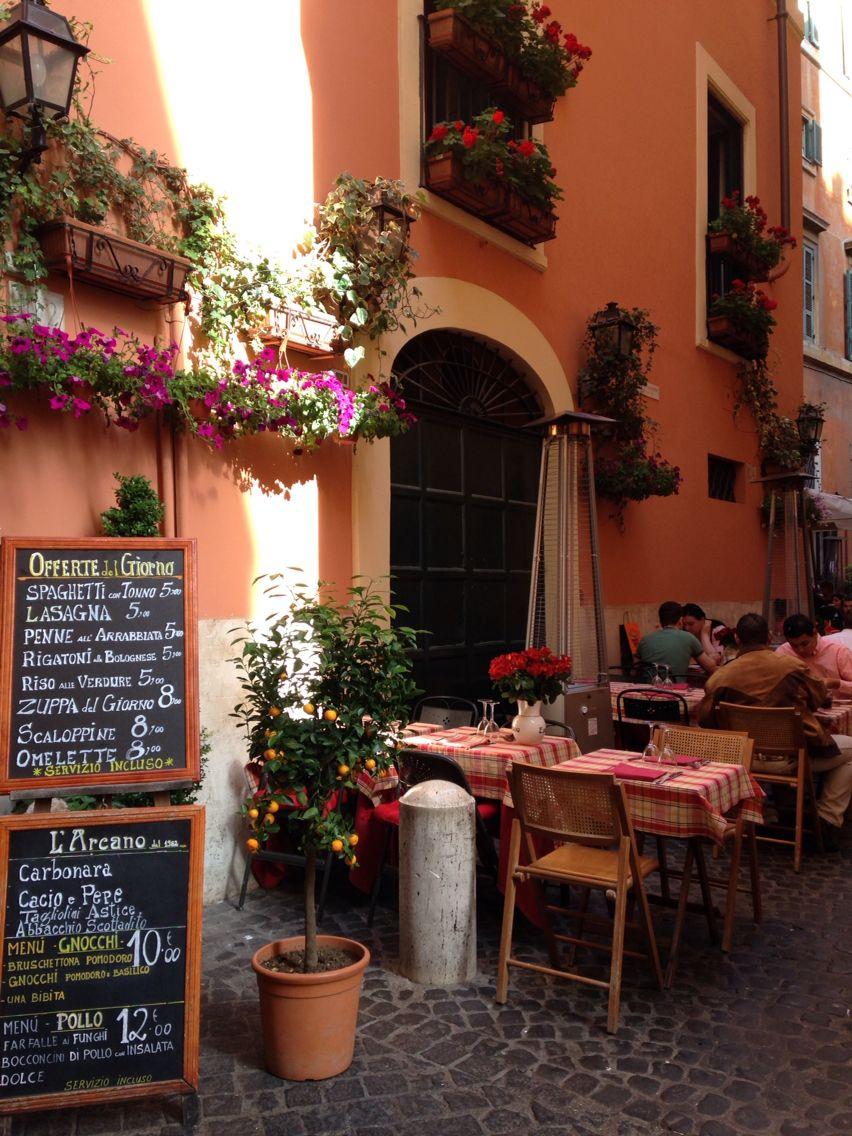 Ristorante italiano Roma Outdoor decor, Patio, Toscana