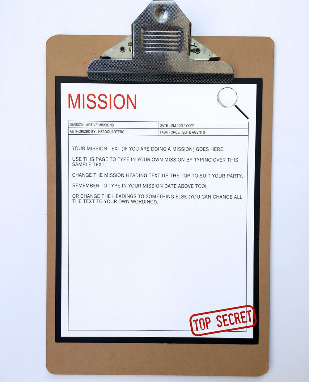 Secret Agent Birthday Party Invitations And Decorations