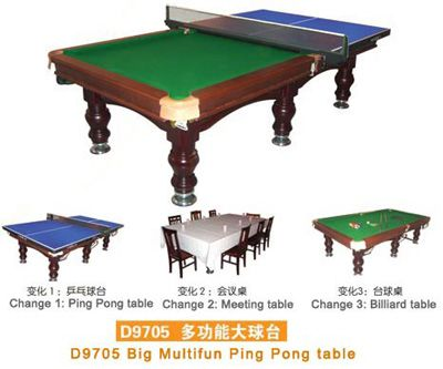 DINING TABLE/POOL TABLE/PING PONG   MULTI FUNCTIONAL.