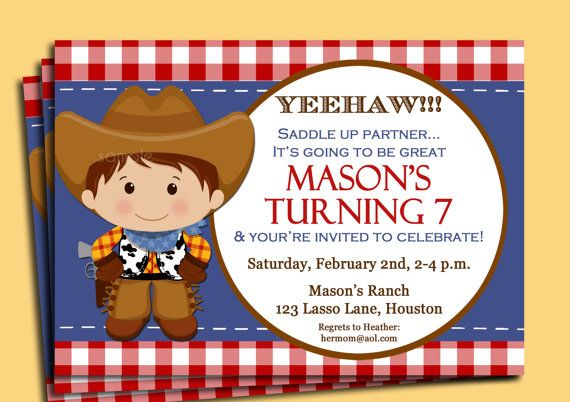 cowboy invitation cowgirl cowboy party ideas pinterest cowboys