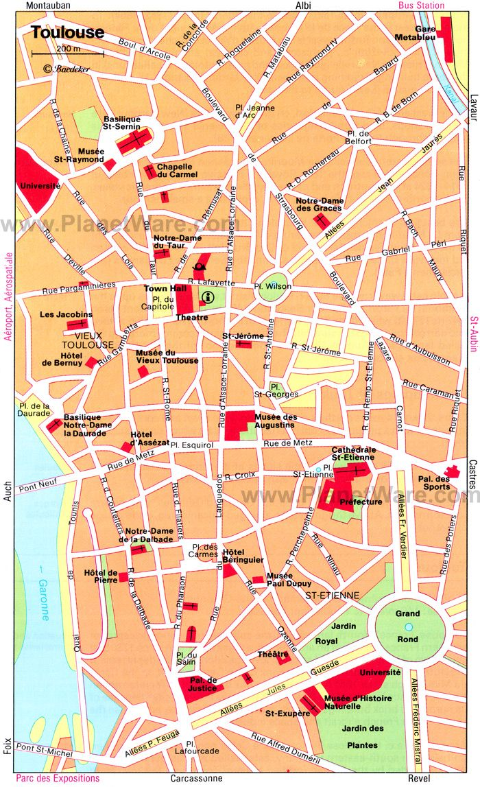 Toulouse Map Tourist Attractions Toulouse Pinterest Toulouse