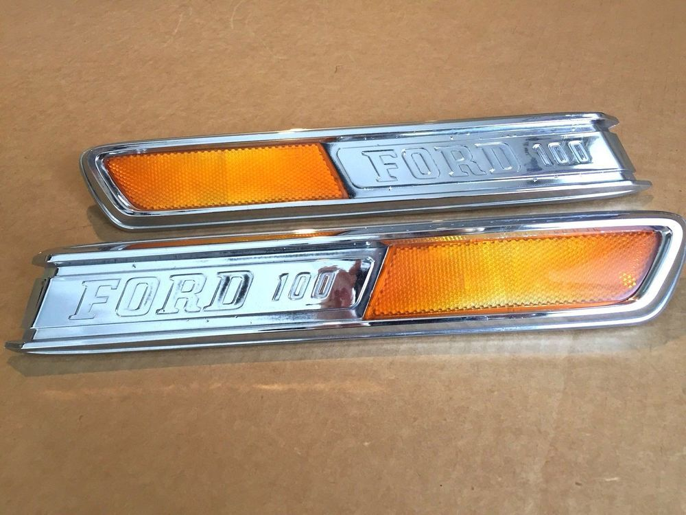 1968 1972 ford truck f100 side hood emblem badge right left