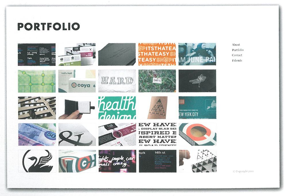 Graphic Designer Portfolio Layout A clean and beautiful layout ...