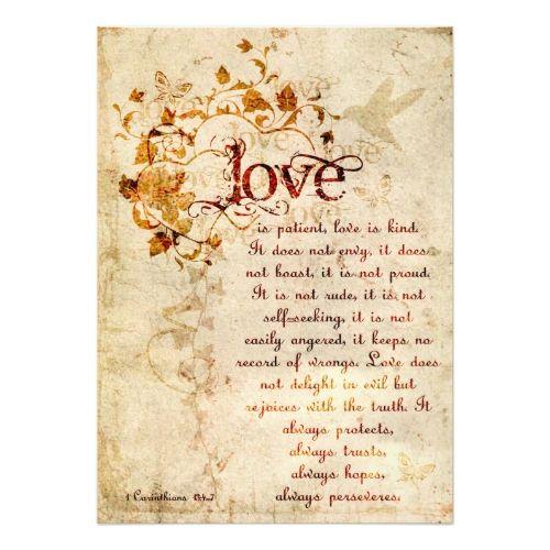Catholic Wedding Invitation Krw Corinthians Love Is Wedding