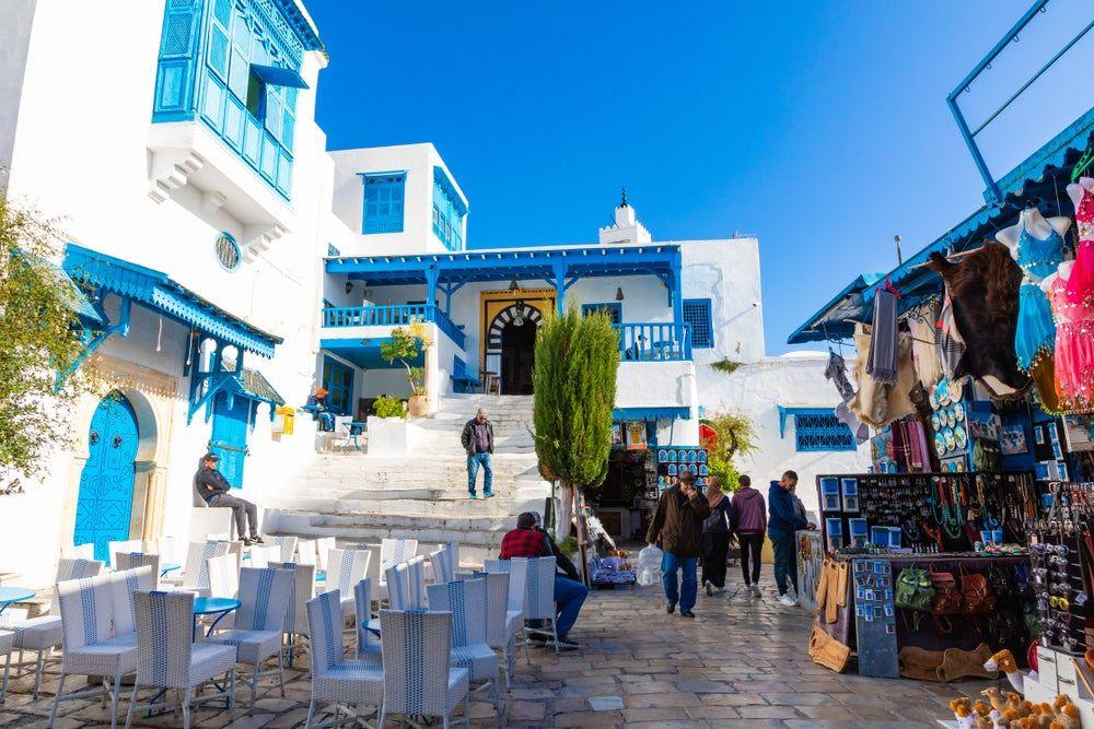 السياحة في تونس تقفز بـ 8 3 مليون زائر Sidi Bou Said Tunisia Stock Photos