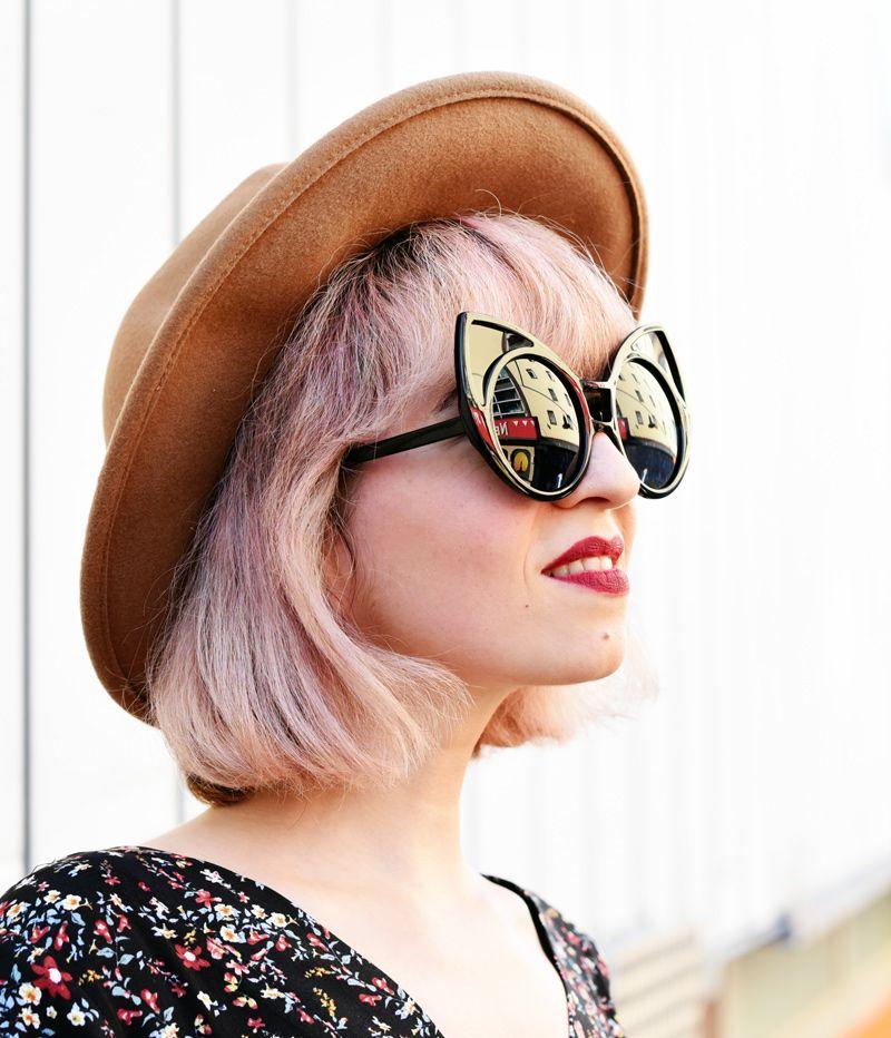 Nachgestern ist Vormorgen: Women's Trendy Oversize Round Cat Eye Window Sunglasses 9766