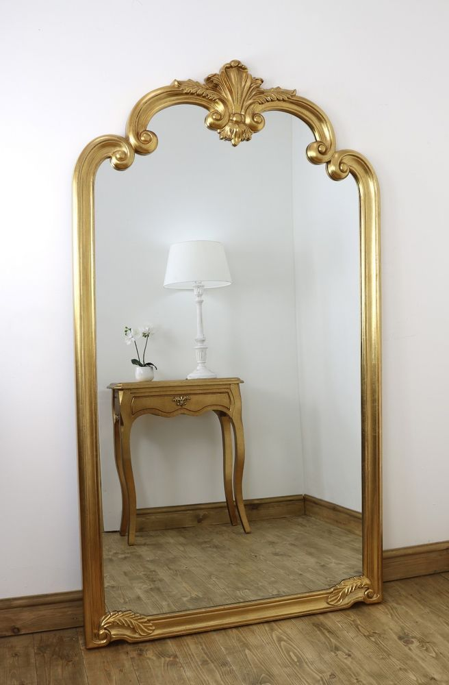 Details About Pelazzo Gold Ornate Full Length Vintage Floor Mirror