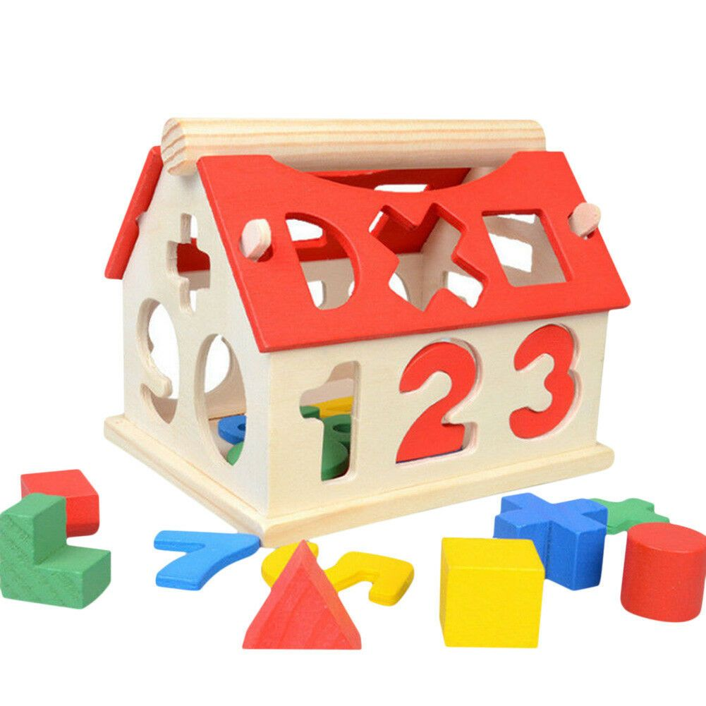 Wooden Toy Toys House Number Kids Children Educational ...