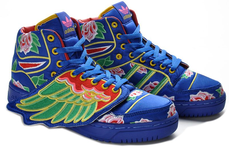 Jeremy Scott Adidas Wings 2.0 Blue Green Shoes