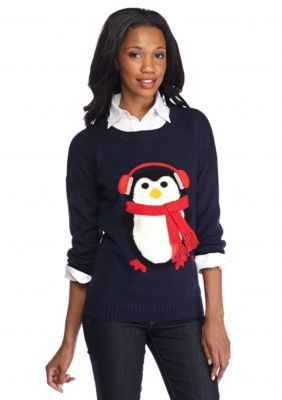 New Directions  Peguin Just Chillin Sweater