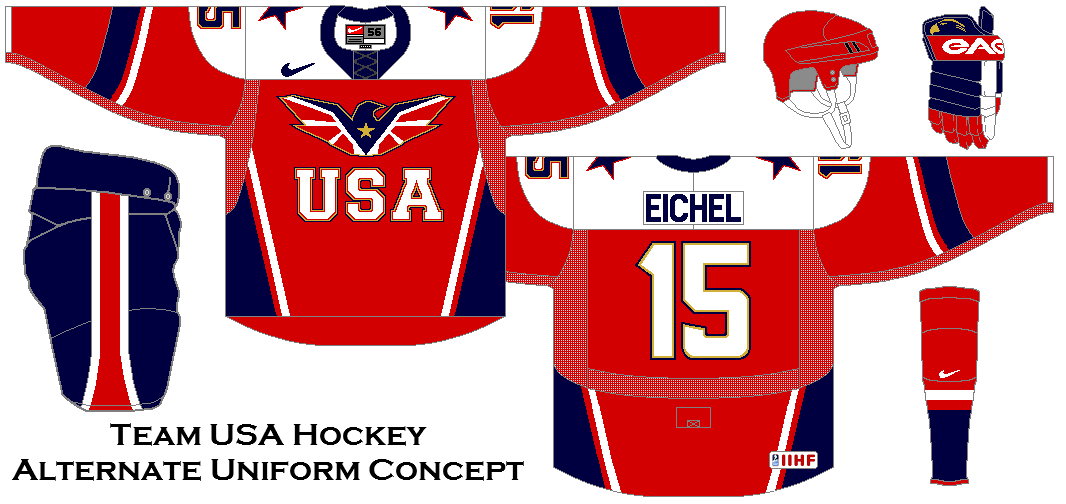 Team Usa Hockey Alternate Uniform Concept Team Usa Hockey Usa Hockey Team Usa