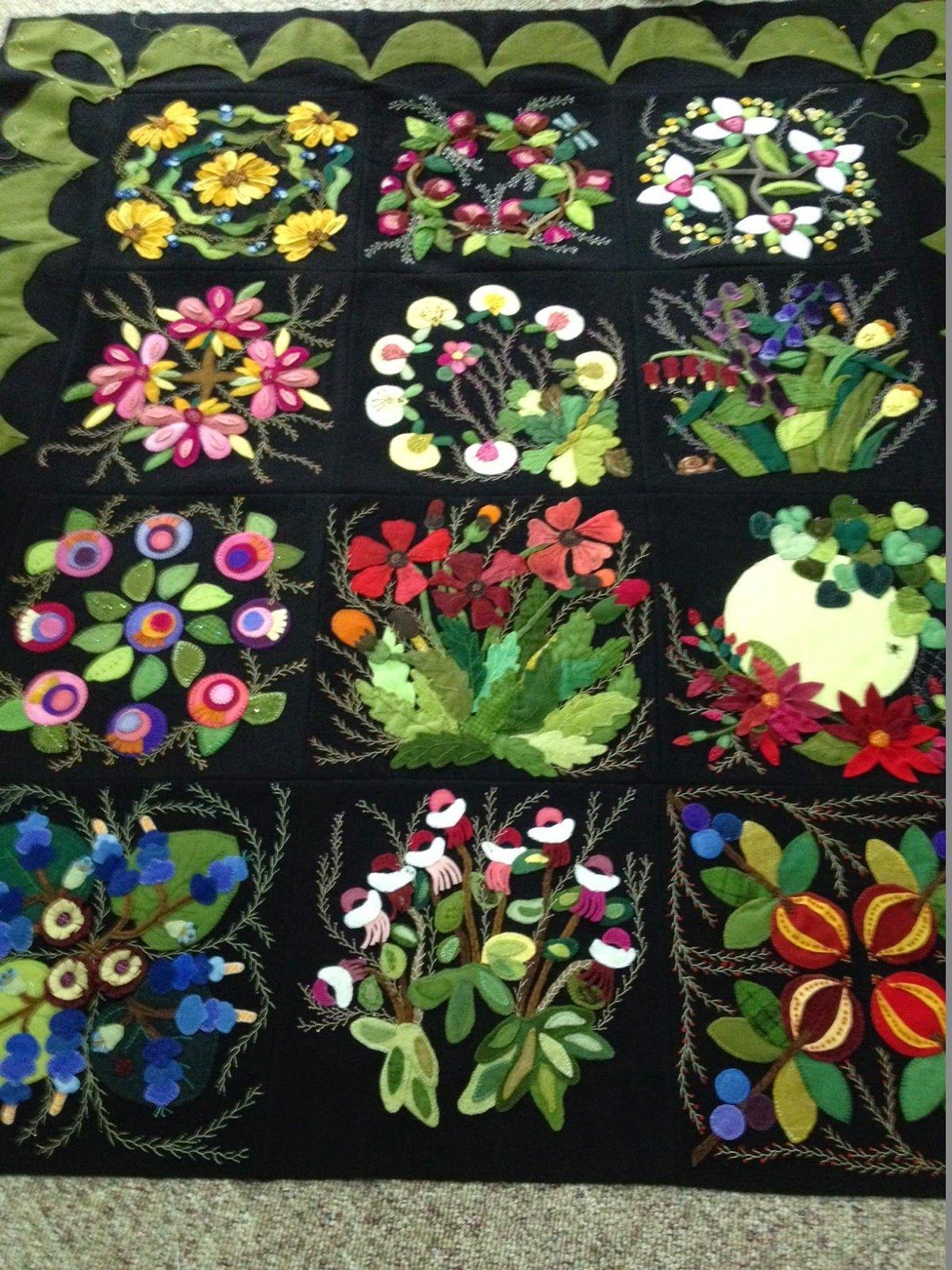 Beautiful applique quilt | Quilting | Pinterest | Applikationen ...