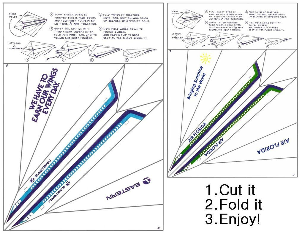 paper airplane printable template sheets | Paper airplane glider pattern by ~paperluigi99 on deviantART