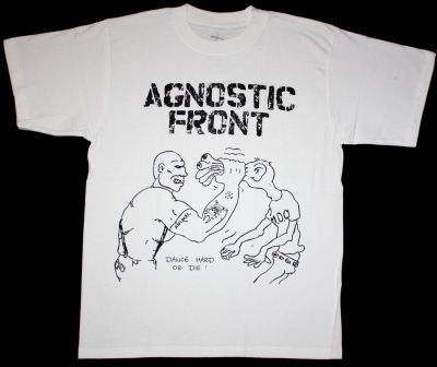 AGNOSTIC FRONT DANCE HARD OR DIE  NEW WHITE T-SHIRT