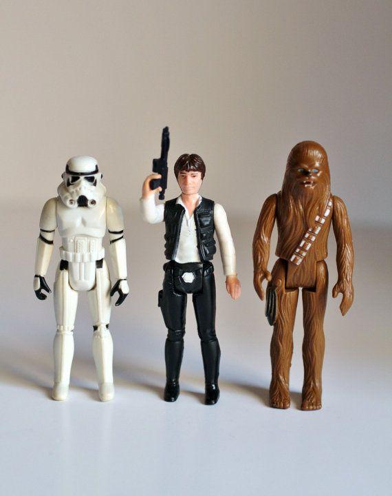 Vintage Star Wars X Wing Side Wing guns 3D Printed Kenner 1980s Black Set of 4