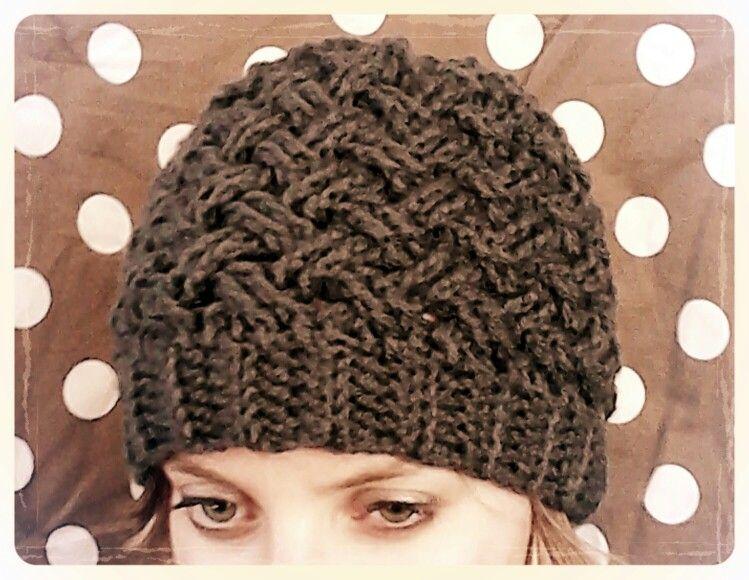 bf936f53e61 Celtic weave crochet beanie
