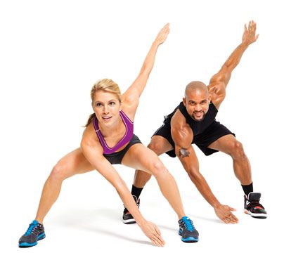 Insanity Workout - Do each of these 6 moves for 1 minute without stopping between exercises. After you've completed 1 round, rest for 60 seconds, then go again. Perform the circuit 3 times (20 minutes & done!) 2 days in a row. Take a rest day & repeat.