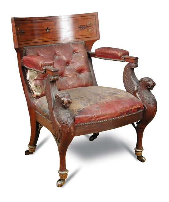 sale f170615 lot an early 19th century mahogany library chair in the french consulate