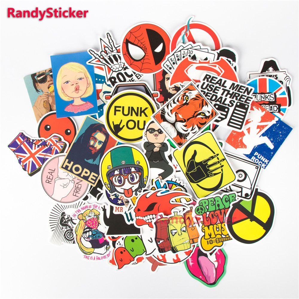 100pcs JDM Cartoon Waterproof Decal Sticker For Car//Motor//Suitcase DIY US STOCK