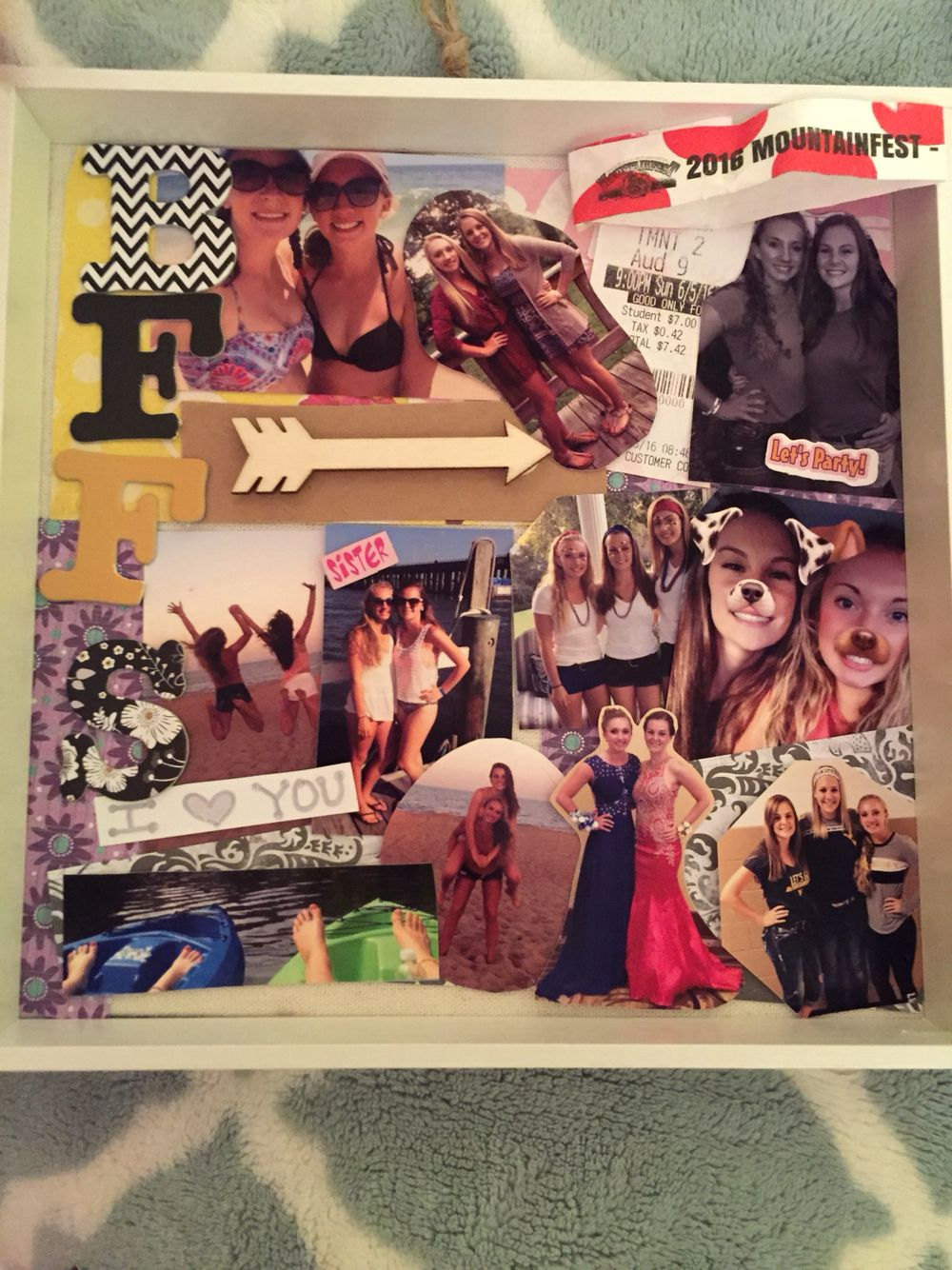 Scrapbook ideas for bff - Best Friend Shadow Box Bff Shadowbox Diy Pictures Gift