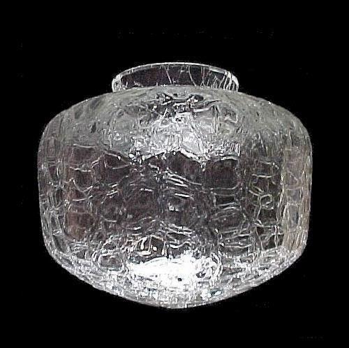 Clear Crackle Glass Light Shade Schoolhouse Globe Lighting