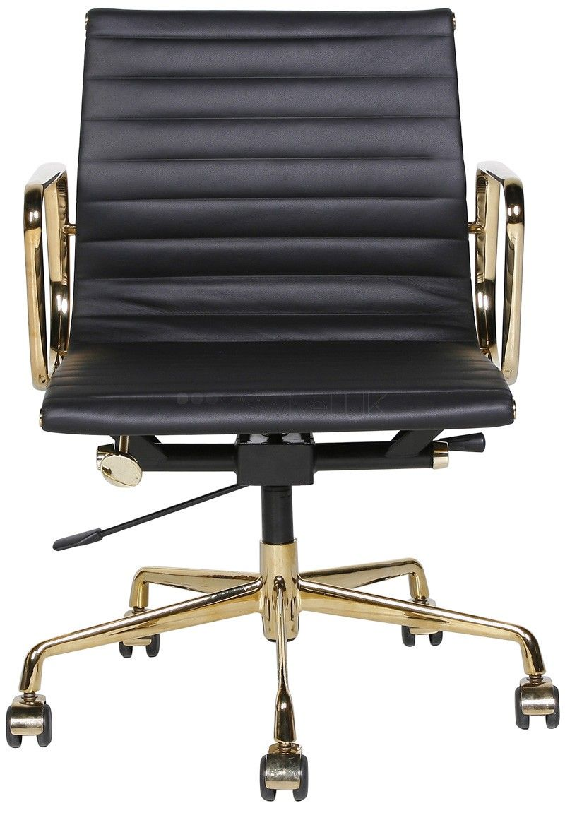 Sessel Stuhl Unterschied Office Aluminium Group Chair Ea117 Gold Edition Charles Eames