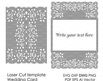 Wedding invitation pattern card template lace folds studio v3 svg wedding invitation pattern card template lace by easycutprintpd stopboris Image collections