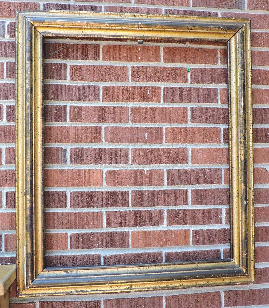 Antique Victorian HUGE LEMON GOLD Carved Wood Picture FRAME 25 x 30 ...