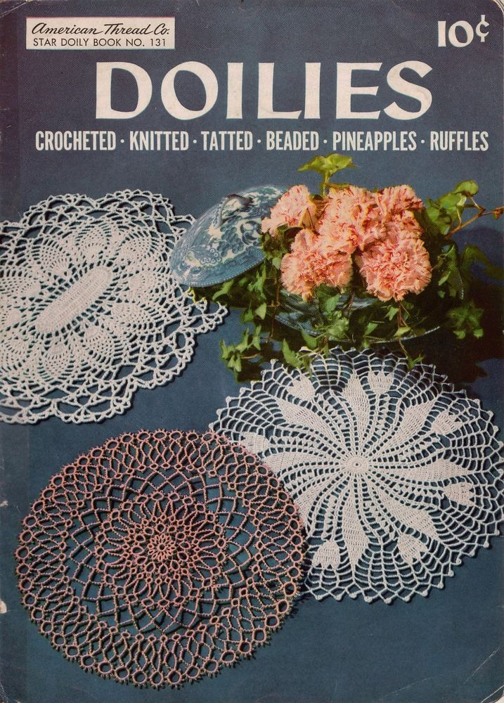 Star Book 131 Doilies Patterns Crochet Knit Tatted Beaded Pineapple