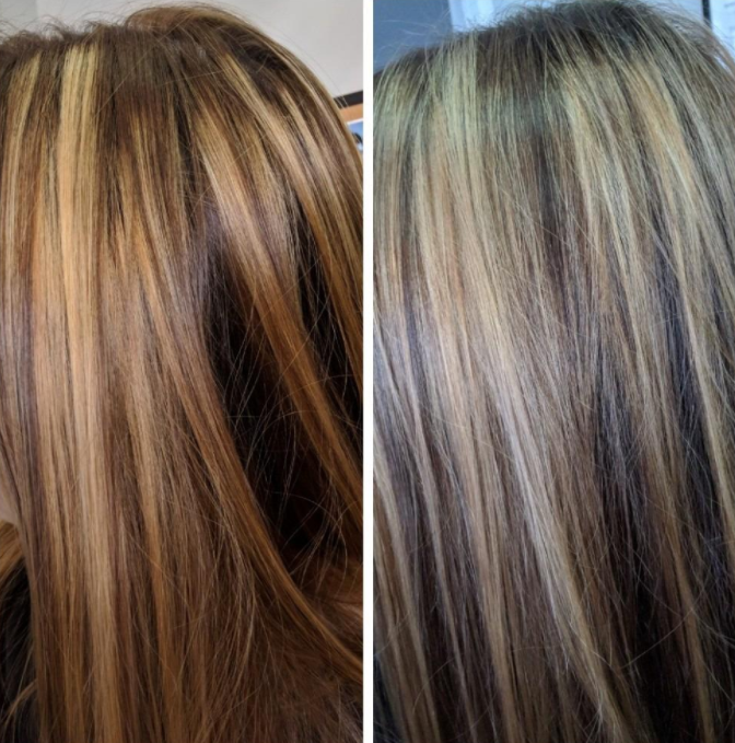 Restore Your Highlights In 2020 Dark Hair With Highlights Toner For Brown Hair Purple Shampoo