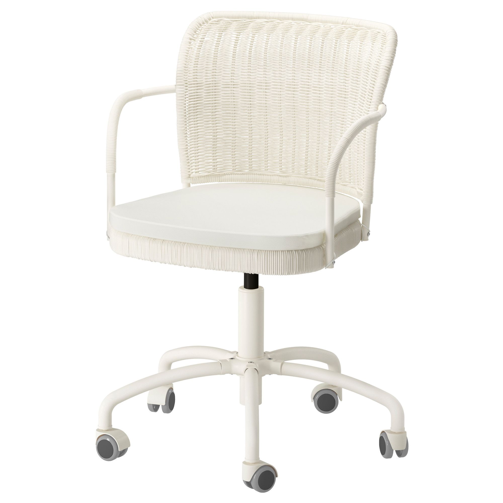 IKEA GREGOR Swivel chair Vittaryd white You sit fortably since