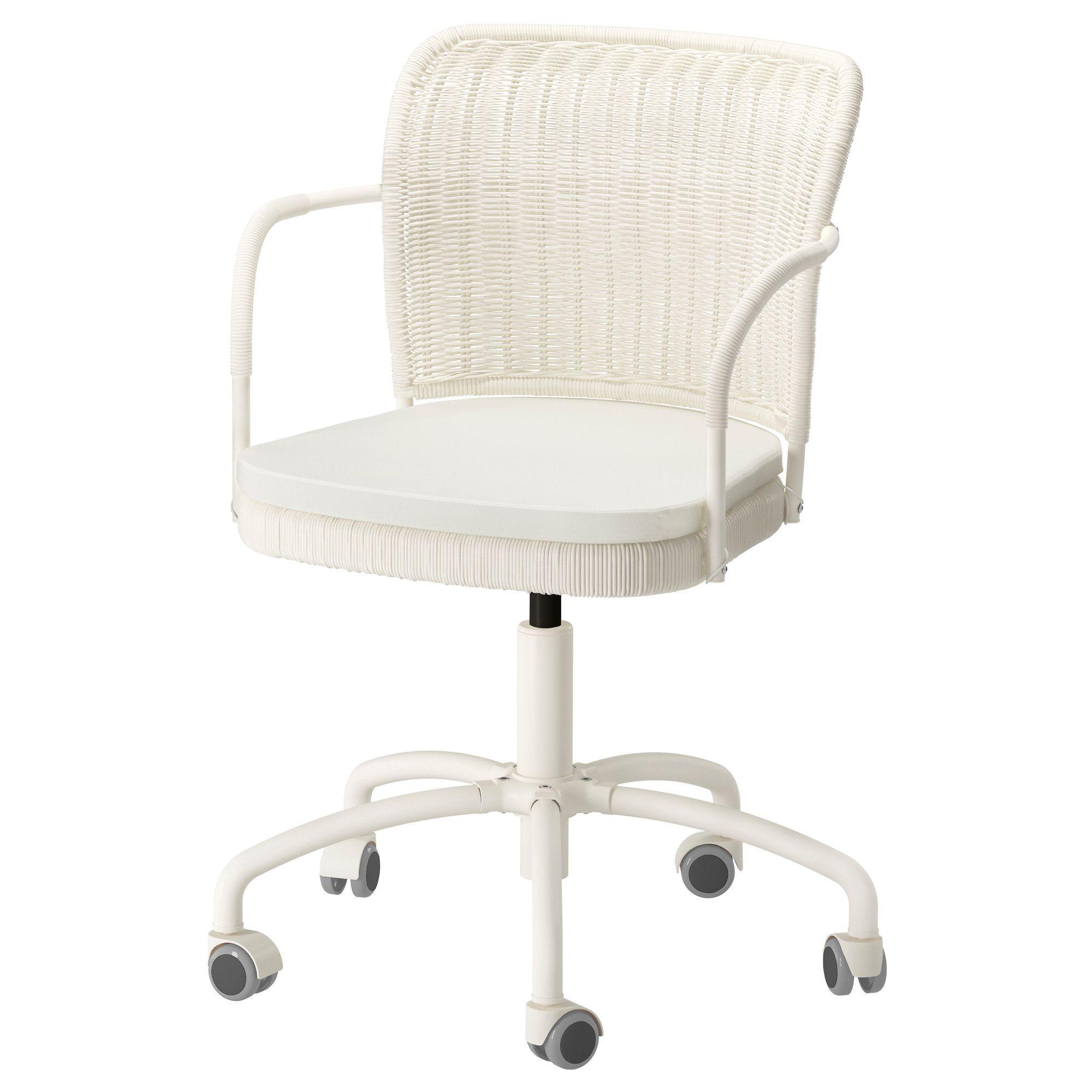 Bürostuhl ikea weiss  IKEA - GREGOR, Drehstuhl, weiß/Vittaryd hellbeige, , Die ...