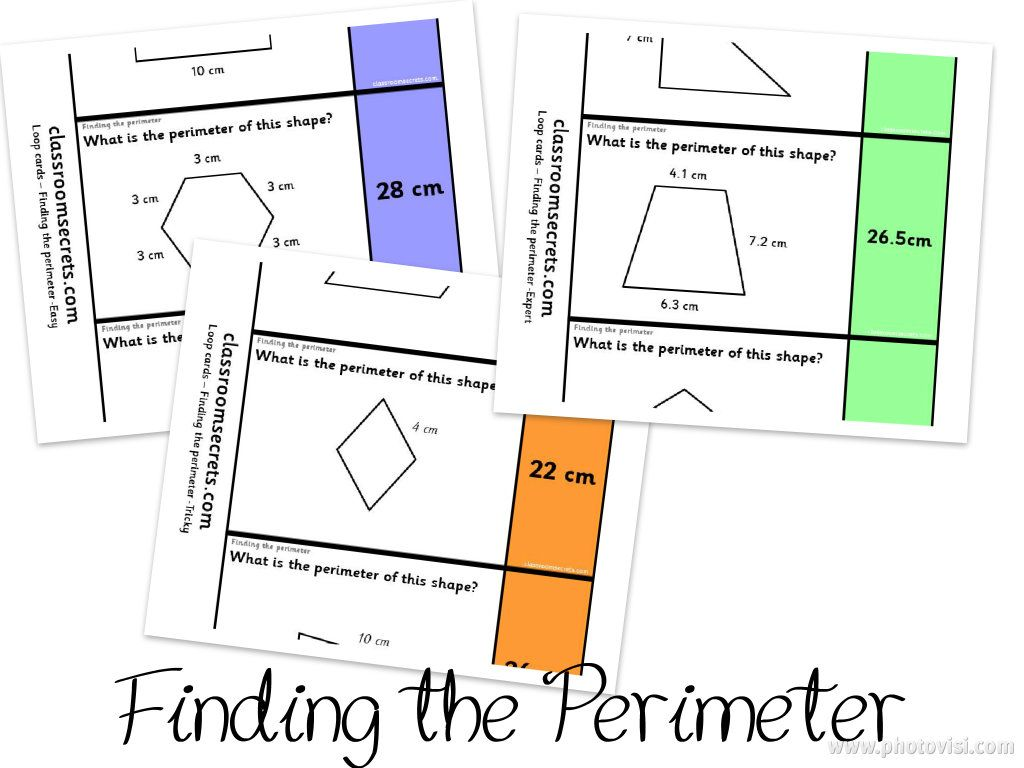 Finding The Perimeter Loop Cards Differentiated Three