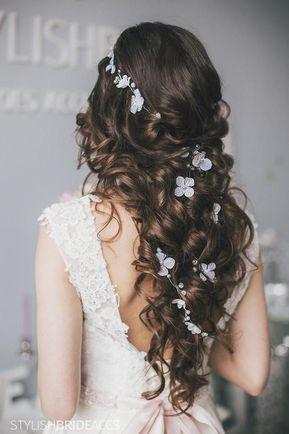 Boda boho 2019 vid floral para el cabello, vid de cristal rústico para el cabello de novia, accesorios para el cabello de novia, pieza para el cabello de la boda con flores – mi blog