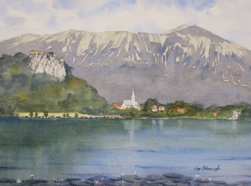 Lake Bled Slovenia With Images Painting Art Original Fine Art
