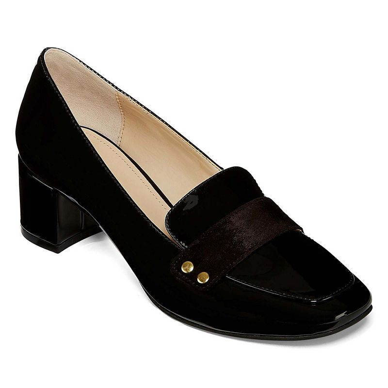 e6d4d7c155eed Liz Claiborne Medina Womens Pumps Slip-on Pointed Toe Block Heel ...
