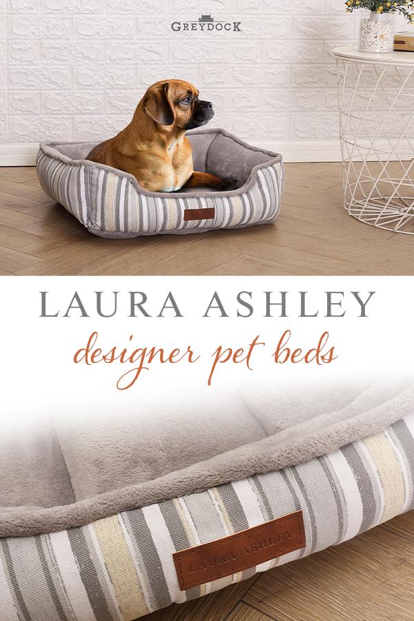 Laura Ashley Reversible Pet Bed Cuddler Washable Medium Stripe Pattern Microfleece Cozy In 2020 Designer Pet Beds Designer Dog Beds Pet Supplies Plus