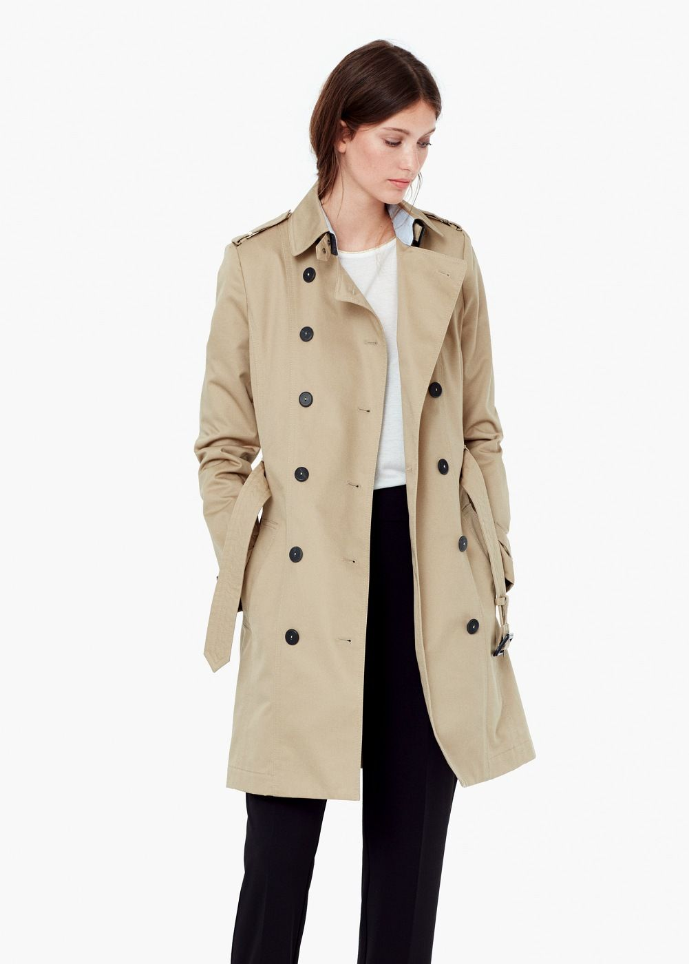 Classic cotton trench coat | Coats, Trench coat women and Trench