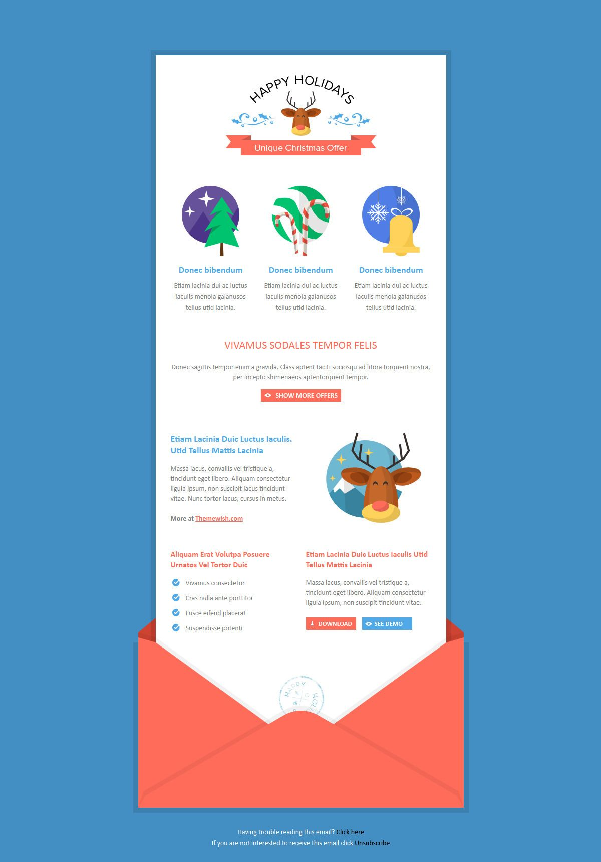 Email Template Suited For Sending Discount Propositions Product