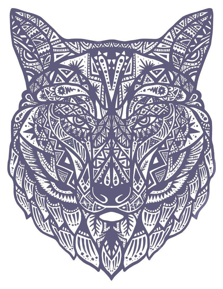 Loup Mandala Coloriage Pour Adulte à Imprimer