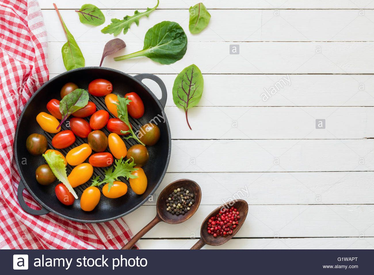 Vegetables spices and cooking utensils on white wooden background stock photo vegetables spices and cooking utensils on white wooden background mock up for recipes cook book forumfinder Choice Image